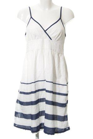 Naf naf Trägerkleid weiß-dunkelblau Streifenmuster Casual-Look