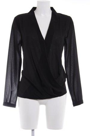 Naf naf Transparenz-Bluse schwarz Elegant