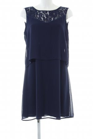 Naf naf Volantkleid blau Business-Look