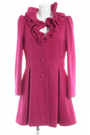 Naf naf Wollmantel magenta Casual-Look