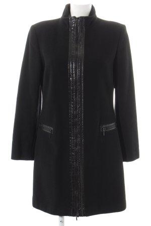 Naf naf Manteau en laine noir style classique
