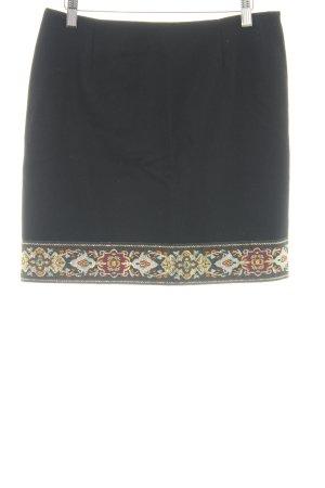 Naf naf Falda de lana estampado floral estilo extravagante