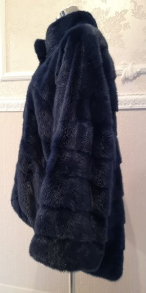 Pelt Coat dark blue-blue pelt