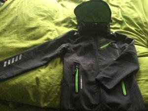 Norway Softshelljack grijs-neon groen