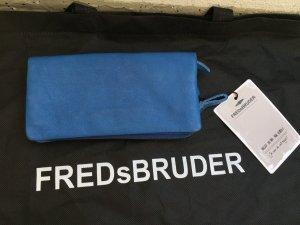 Nagelneue 2 in 1 Geldbörse aus Leder in einen strahlenden blau von Fredsbruder