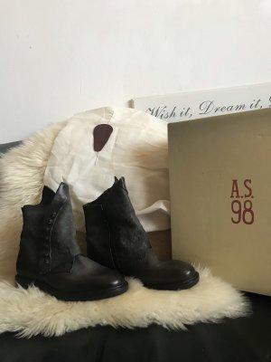 Nagelneue A.S.98 Leder Stiefeletten