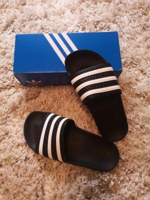 Adidas Claquette blanc-noir