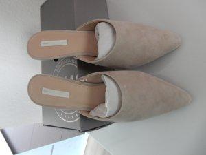 H&M Premium Sandalo con tacco beige chiaro Scamosciato