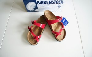 Birkenstock Toe-Post sandals red