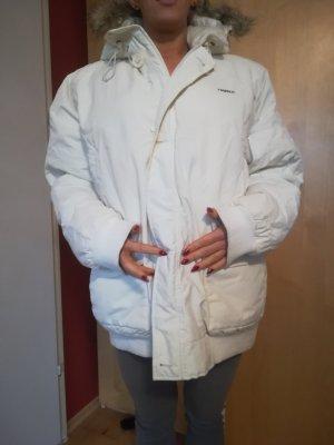 Nagelneue Daunen ähnliche, kuschelige Winterjacke von REJECT mit Pelzoptikkapuze