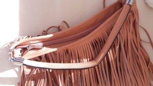 Fringed Bag rose-gold-coloured-salmon imitation leather