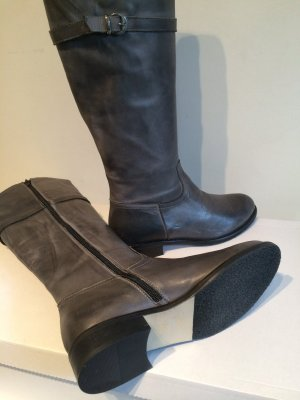 Nagelneue graue Reiterstiefel Made in Italy