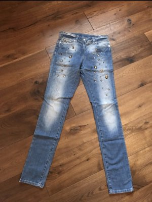 Airfield Tube Jeans azure