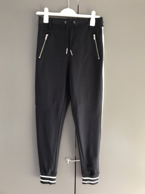 Be only Jersey Pants dark blue-white cotton