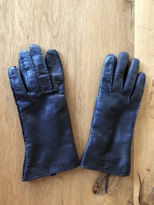 s.Oliver Leather Gloves dark brown leather