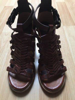 Airstep Peep Toe Pumps brown-cognac-coloured