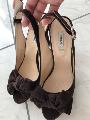 Parlanti Peep Toe Pumps dark brown