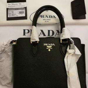 Prada Handtas zwart-goud