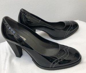 Parlanti Escarpins Mary Jane noir cuir