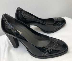 Parlanti Escarpins Mary Jane noir cuir