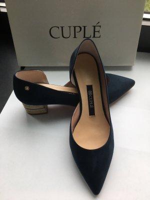 Cuplé Zapatos Informales azul Gamuza