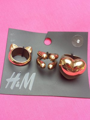 nagelneue Ring ringe h&m gold S set