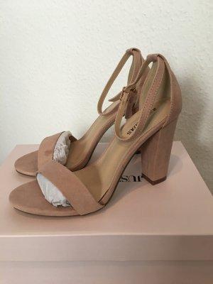 Just Fab Platform High-Heeled Sandal dusky pink-rose-gold-coloured
