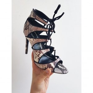 Zara Basic High-Heeled Sandals multicolored