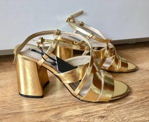 Zara Basic High Heel Sandal gold-colored