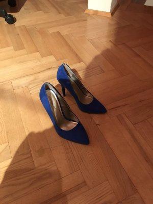 Nagelneue sexy heiße blaue Highheels von Deichmann Star Collection Original Ally Galding