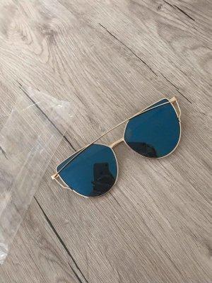 Glasses cornflower blue-gold-colored