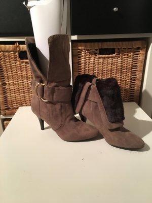 Guess Scarpina di lana marrone-grigio
