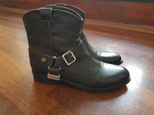 Tommy Hilfiger Botas negro-marrón oscuro Cuero