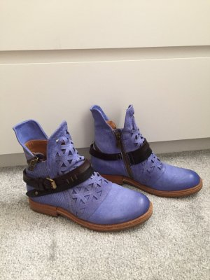 A.S.98 Booties cornflower blue-purple