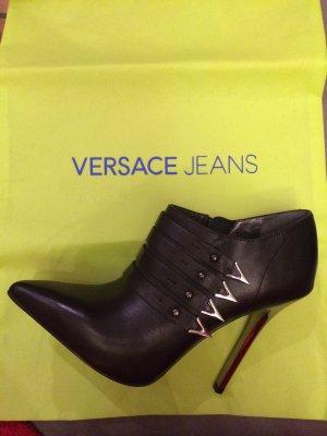 Versace Scarpina di lana nero-argento