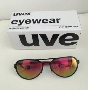 Nagelneue verspiegelte Pilotenbrille von UVEX