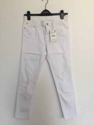 Zara 7/8-jeans wit