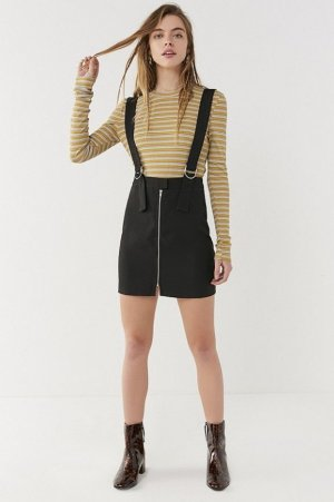 Urban Outfitters Jupe noir polyester
