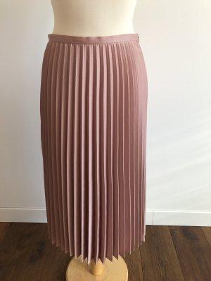 Hallhuber Donna Plaid Skirt rose-gold-coloured