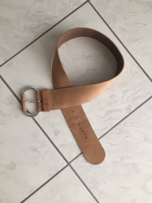 Benetton Leather Belt beige-silver-colored