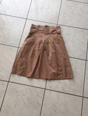 H&M Falda acampanada marrón claro