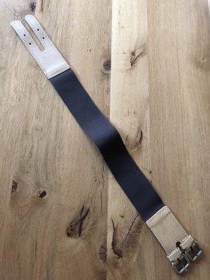 Friis & Company Cinturón de cuero marrón oscuro-crema