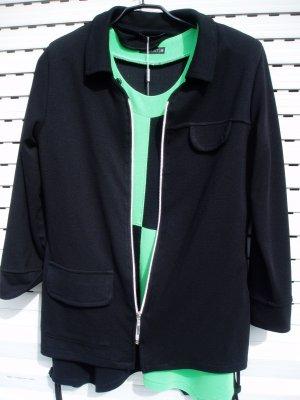 Gabardina tipo vestido negro-verde Viscosa