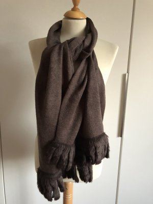 Wollen sjaal donkerbruin