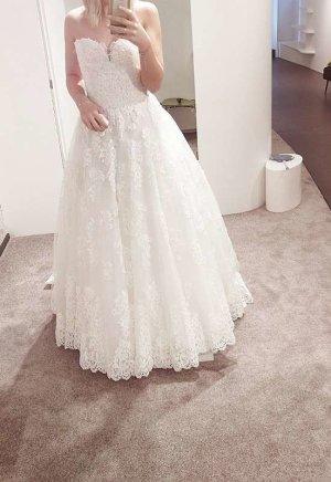 Nagelneues Brautkleid mit Spitze von Madeline Gardner (MGNY)