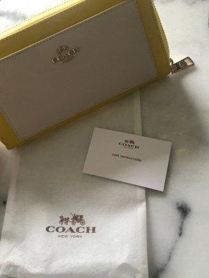Coach Sac blanc-jaune primevère cuir