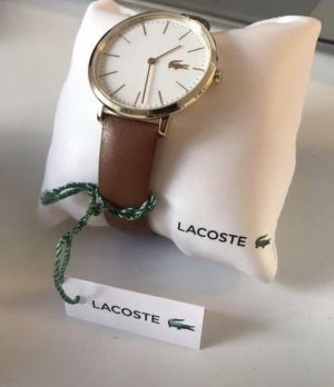 Lacoste Reloj con pulsera de cuero marrón