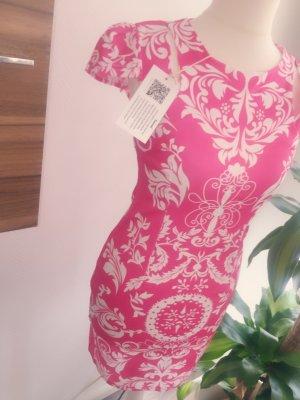 Nagelneues weißes Pinkes Kleid