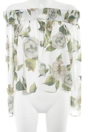 Nakd Carmen-Bluse florales Muster Romantik-Look