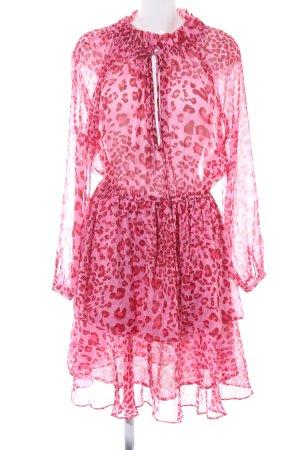 Nakd Vestido de chifón rosa-rosa estampado con diseño abstracto look Boho